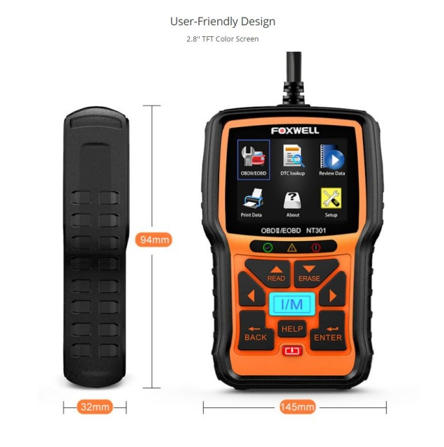 O2 Sensor Live Data: FOXWELL NT301 OBD2 Automotive Diagnostic Code Reader Scan Tool