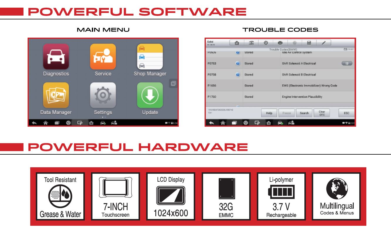 AUTEL MaxiCHECK Multi-System Diagnostic Scan Tool + Special Service