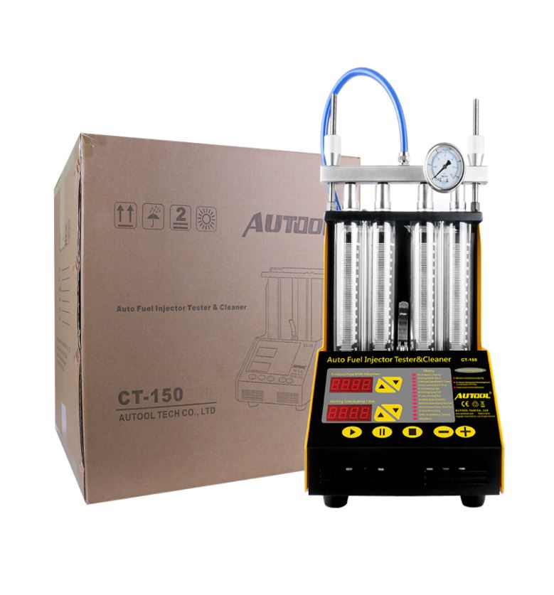 BAT TECH Petrol Fuel Injector Test Bench and Ultrasonic Cleaner